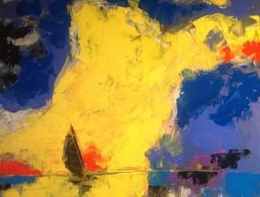nuvole gialle e vela scura