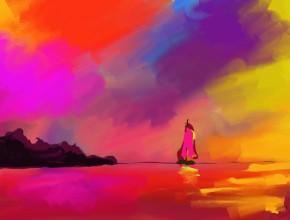 barca all'orizzonte