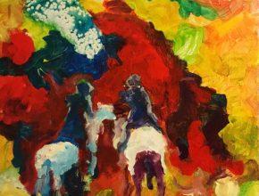 2305 A cavallo su per la collina